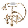 Silverdale Victorian Bath Shower Mixer Taps Gold profile small image view 1