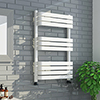 Venice White 800 x 500 Designer D-Shaped Heated Towel Rail profile small image view 1