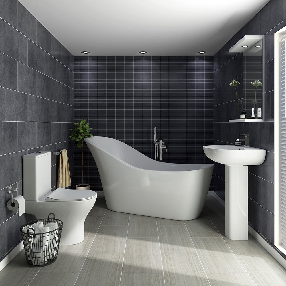 vegas modern freestanding bath suite at victorian plumbing uk