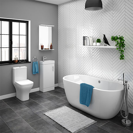 Venice Small Vanity Freestanding Bath Suite