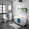 Venice Small Vanity Freestanding Bath Suite profile small image view 1