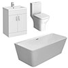 Venice BTW Free Standing Bath Suite profile small image view 1