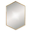 Venice Brushed Brass 500 x 750mm Hexagonal Mirror profile small image view 1