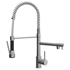 Venice Modern Kitchen Mixer Tap with Swivel Spout & Directional Spray - Chrome