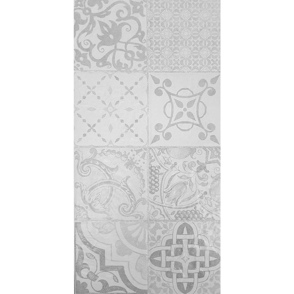 Verona Grey Encaustic Effect Wall and Floor Tiles - 255 x 510mm  Standard Large Image