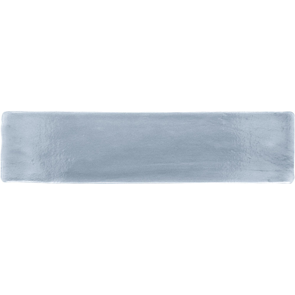 Vernon Rustic French Blue Gloss Ceramic Wall Tiles 75 x 300mm Large Image