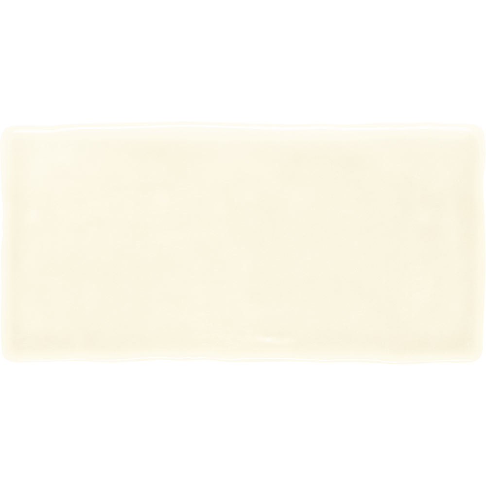 Vernon Rustic Ivory Gloss Ceramic Wall Tiles 75 x 150mm Large Image