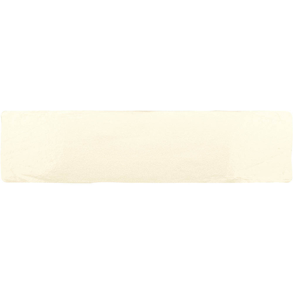 Vernon Rustic Ivory Gloss Ceramic Wall Tiles 75 x 300mm Large Image