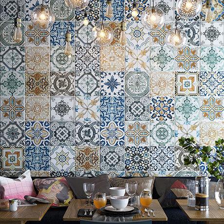 Verini Encaustic Effect Wall and Floor Tiles - 200 x 200mm