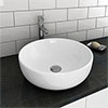 Sol Round Counter Top Basin 0TH - 405mm Diameter profile small image view 1