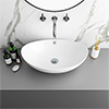 Costa Counter Top Basin - Oval profile small image view 1