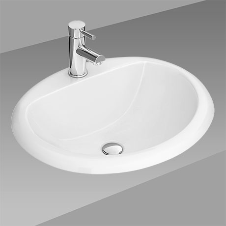 Rio Oval Inset Basin 1TH - 520 x 455mm
