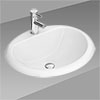 Rio Oval Inset Basin 1TH - 520 x 460mm profile small image view 1
