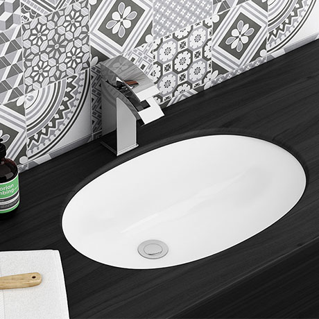 Milos Oval Under Counter Basin 0TH - 565 x 390mm