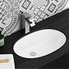 Milos Oval Under Counter Basin 0TH - 565 x 390mm profile small image view 1