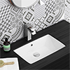 Fresco Rectangular Under Counter Basin 0TH - 530 x 345mm profile small image view 1