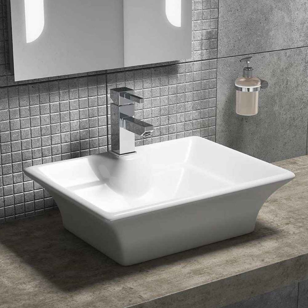 Riviera Counter Top Basin 1TH - 490 x 390mm