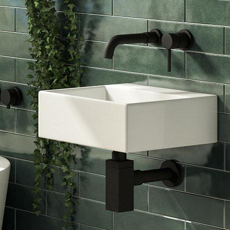 Cubetto 340 x 295mm 0TH Compact Basin