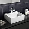Cubetto 330 x 290mm Compact Counter Top Basin 1TH profile small image view 1