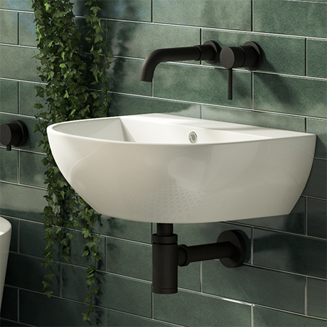 Harmonia 440 x 365mm 0TH Curved Wall Hung Basin