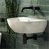 Harmonia 440 x 365mm 0TH Curved Wall Hung Basin profile small image view 1