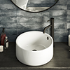 Sahara 405mm Round Counter Top Basin 0TH profile small image view 1
