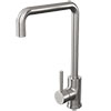 Edmonton Modern Brushed Stainless Steel Kitchen Mixer Tap profile small image view 1
