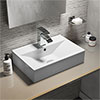 Kyoto Rectangular Basin 1TH - 450 x 310mm profile small image view 1