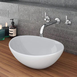 Casca Oval Counter Top Basin 0TH - 410 x 330mm