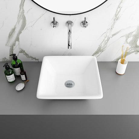Lazio Square Counter Top Basin - 0TH - 410 x 410mm