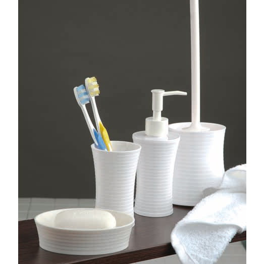 Wenko Vetto Bathroom Accessories Set - White profile large image view 2
