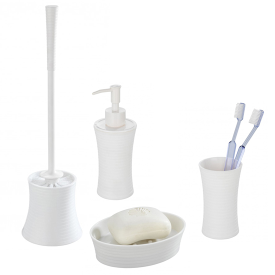 Wenko Vetto Bathroom Accessories Set - White Large Image