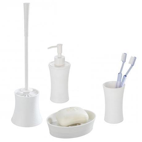 Wenko vetto bathroom accessories set white at victorian for Victorian bathroom accessories set