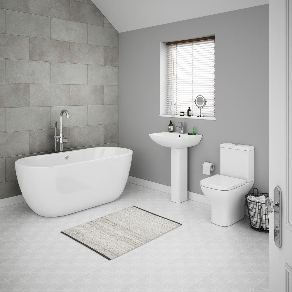 Venice Modern Freestanding Bath Suite
