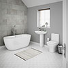 Venice Modern Freestanding Bath Suite profile small image view 1