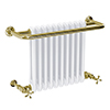 Bromley Vintage Gold Traditional Wall Hung Towel Rail Radiator (742 x 492mm) profile small image view 1