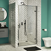 Newark Hinged Shower Door - Various Sizes profile small image view 1