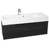 Vision 1000 x 355mm Black Wood Wall Mounted Sink Vanity Unit Small Image