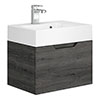 Vision 500 x 355mm Grey Oak Wall Mounted Sink Vanity Unit profile small image view 1