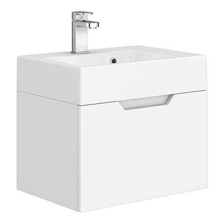 Vision 500 x 355mm Gloss White Wall Mounted Sink Vanity Unit