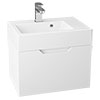 Vision 500 x 355mm Gloss White Wall Mounted Sink Vanity Unit profile small image view 1