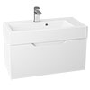 Vision 700 x 355mm Gloss White Wall Mounted Sink Vanity Unit  Small Image
