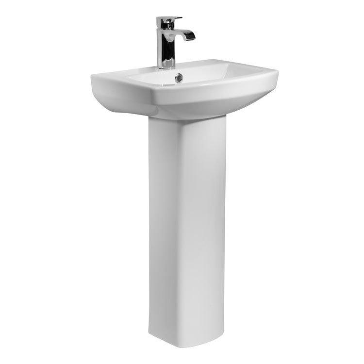 Tavistock Vibe 460mm Ceramic Basin & Pedestal Large Image