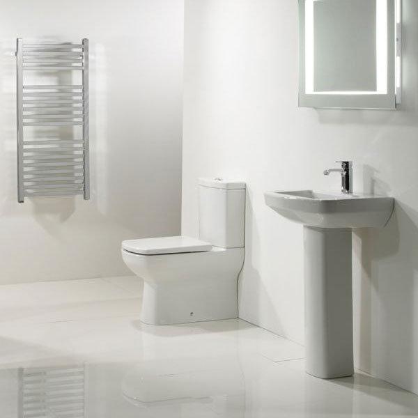 Tavistock Vibe 550mm Ceramic Basin + Pedestal profile large image view 2