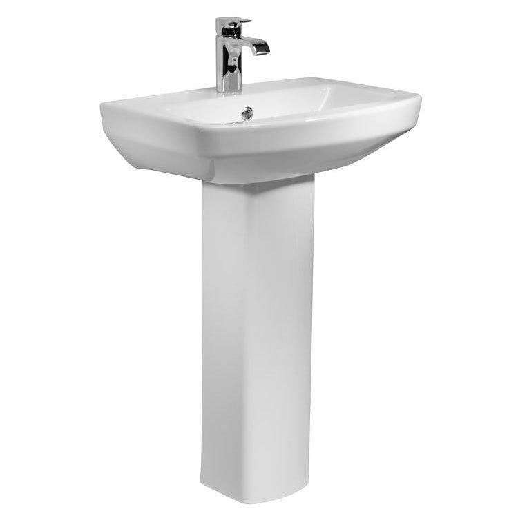 Tavistock Vibe 550mm Ceramic Basin + Pedestal profile large image view 1