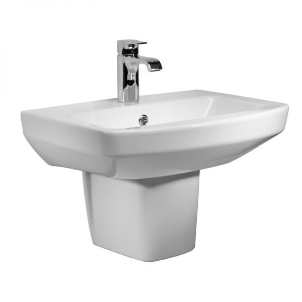 Tavistock Vibe 550mm Ceramic Basin & Semi-Pedestal Large Image