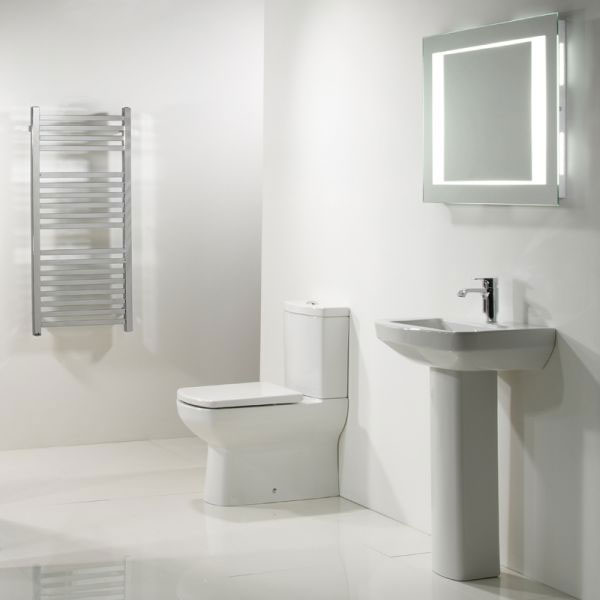 Tavistock Vibe Fully Enclosed Close Coupled WC & Soft Close Seat profile large image view 2