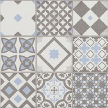 Vibe Light Blue Mosaic Patterned Wall and Floor Tiles - 223 x 223mm Medium Image