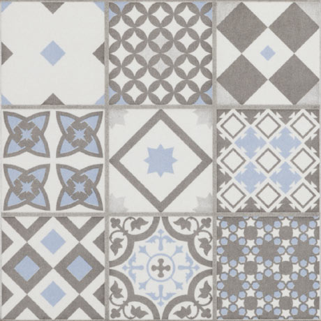 Vibe Light Blue Mosaic Patterned Wall and Floor Tiles - 223 x 223mm