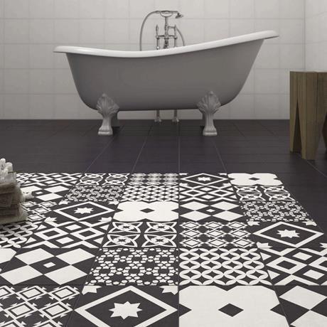 Vibe Black Patterned Tile | Victorian Plumbing